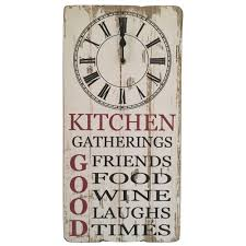 Wooden Wall Clock Kitchen Gatherings