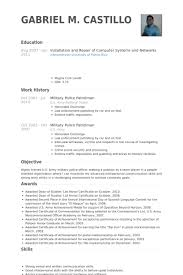 Example Of Resume With No Work Experience by Military Resume Samples Visualcv Resume Samples Database