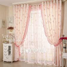 Pink And Gold Curtains Silk Pink Living Room Butterfly Curtains With Room Darkening Function