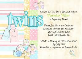 twins baby shower invitation glitter and pearls baby shower