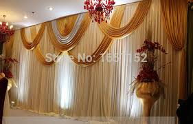 wedding backdrop on stage aliexpress buy golden wedding backdrop 10ft 20ft stage