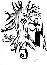 tim burton tree design by amberxdarko the creepy design