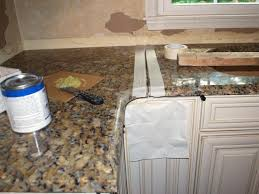 How To Cover Kitchen Cabinets by How To Install A Granite Kitchen Countertop How Tos Diy