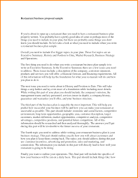 9 business proposal letter for restaurant proposal template 2017