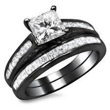 black gold wedding sets black bridal jewelry sets shop the best wedding ring sets deals