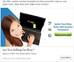 ebay sales with custom auction templates