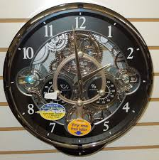 wall clock with moving gears wall decoration ideas