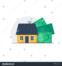 mortgage down payment concept property sale stock vector 335669105