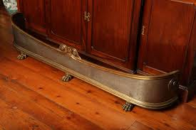 large antique regency period brass and steel fire fender circa