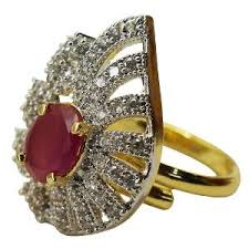 jewellery rings images images Cubic zircon ring by sheetal jewellery rings homeshop18 jpg