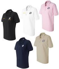 navy waves custom embroidered polo shirts