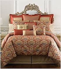 Red Gold Comforter Sets Amazon Com Waterford Olympia King Comforter Set 4pc Red Blue