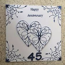 45 wedding anniversary handmade sapphire wedding anniversary card happy 45th wedding
