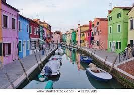 Burano Italy Colorful Houses Taken On Burano Island Stock Photo 136063781