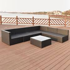 Patio Wicker Furniture Set - 7 pcs patio rattan wicker furniture set outdoor furniture sets