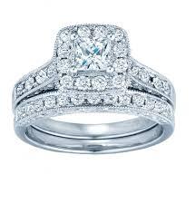 princess cut wedding set vintage princess halo wedding set 5 8 carat with filigree