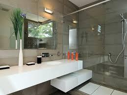 Modern Bathroom Lighting A Modern Bathroom In A Light Color - Bathroom light design ideas