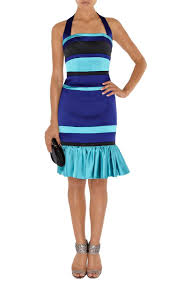 karen millen bag sale karen millen colourblock satin dress blue