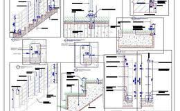 Handrail Construction Detail Staircase Design And Railing Detail Plan N Design