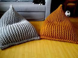 chunky wool knit grey mustard kids u0027 bean bag bean bag