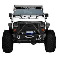 jeep front bumper paramount jeep wrangler 2007 2017 off road xtreme stubby black