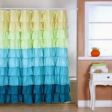 whimsy pretty things ruffle shower curtains