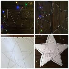 How To Make A Light Curtain Diy Fairy Light Christmas Star U2013 Lifeovereasy