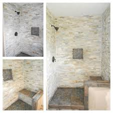 gray stone shower with bench grey stone shower with bench our