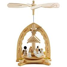 German Christmas Decorations Candles by Amazon Com Christmas Decoration Pyramid 18 Inches Nativity Play 3