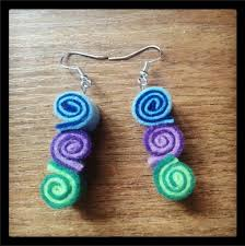 felt earrings aretes de fieltro aretes fieltro felting and craft
