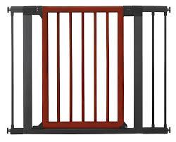 Extra Wide Pressure Fit Safety Gate Wood U0026 Steel Designer Gate Baby Safety Zone Powered By Jpma