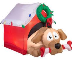 amazon com christmas inflatable 5 1 2 u0027 animated dog w candy cane