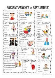 64 free esl past simple vs present perfect worksheets