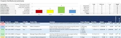 portfolio management reporting templates project portfolio summary excel template robert mcquaig