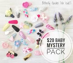 baby hair clip mystery pack 20 butterfly garden baby hair butterfly