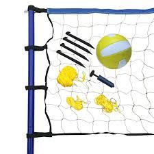 hathaway portable volleyball net posts ball u0026 pump set walmart