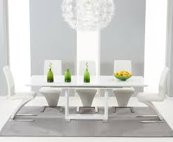 White Gloss Dining Tables And Chairs Beckley 160cm White Extending Dining Table Style Our Home