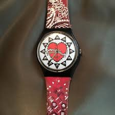 swatch sale 90 u0027s swatch watch tattoo bandana print from