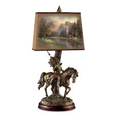 Sculpture Table Lamps Thomas Kinkade Native Journeys Sculpture Lamp With Art Shade By