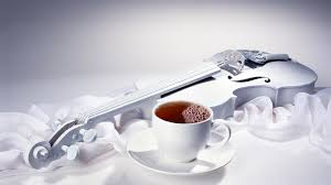 beautiful white wallpaper special guitar and tea