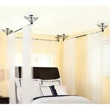 Curtain Rod Ceiling Mount Curtain Rods For Canopy Bed Ceiling Mount Curtain Rod Canopy Bed