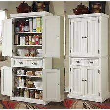 distressed storage cabinet white pantry tall organizer utility