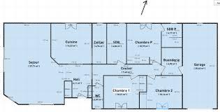 plan de maison 5 chambres plain pied plan maison 5 chambres plain enchanteur plan de maison de plain pied