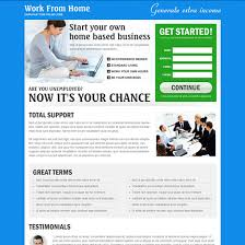 web design home based business work from home based business landing page to boost your traffic and