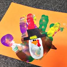 colorful handprint turkey craft for thanksgiving crafty morning