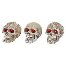 deco replicas skull gazer resin 3 human skull with ruby eye fish