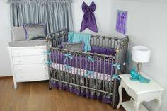 Purple And Teal Crib Bedding Purple And Grey Nursery Bedding Thenurseries