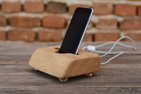 unique charging station masive oak wood iphone charging station big docking station