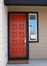 Mid Century Window Trim Red Door Black Trim Midcentury Entry Orange County By
