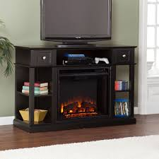 howden electric fireplace media console in weathered espresso